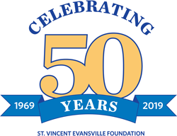 Celebrating 50 years 1969 - 2019 - St. Vincent Evansville Foundation