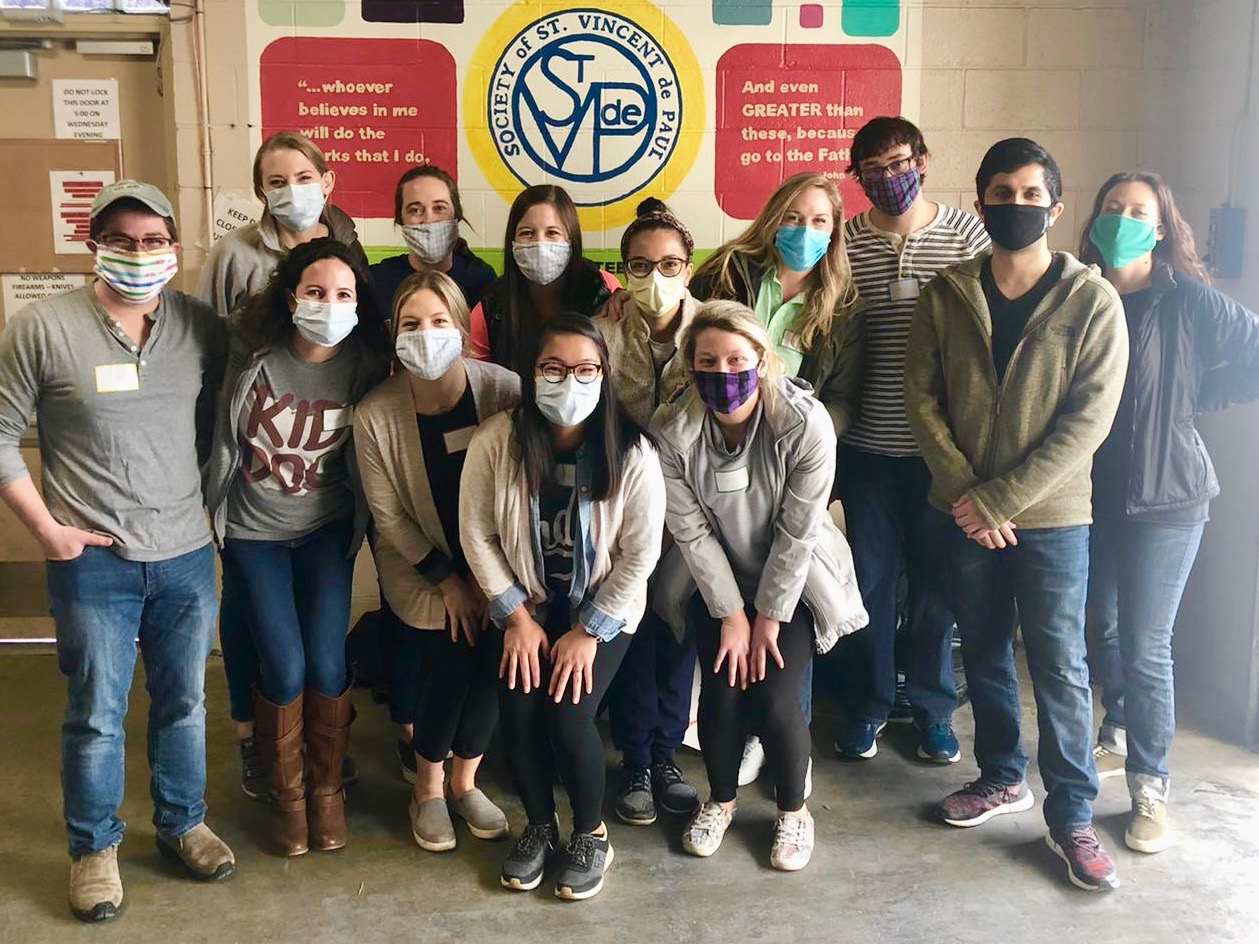 Pediatric Residents performing community service