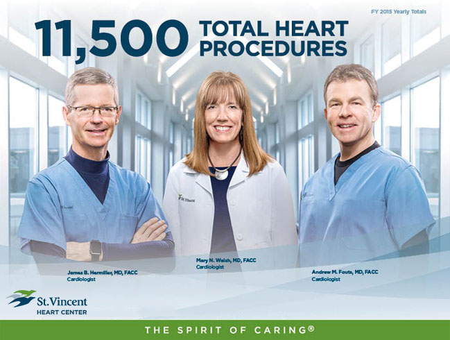 11,500 Total Heart Procedures - St. Vincent Heart Center