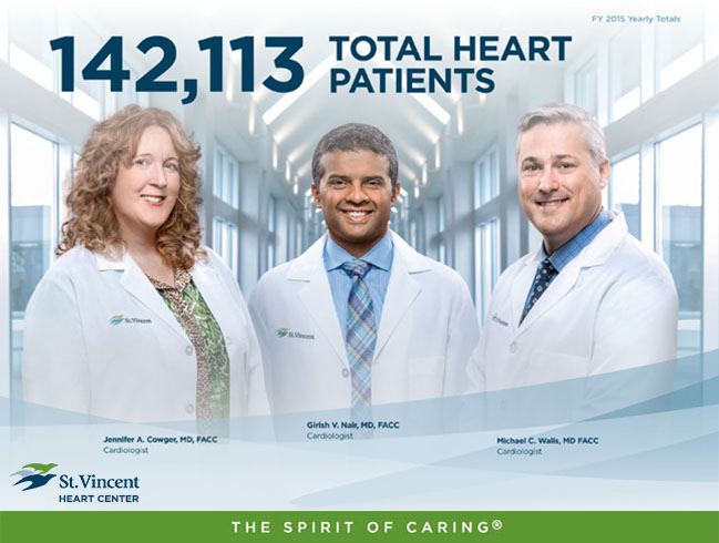 142,113 Total Heart Patients - St. Vincent Heart Center